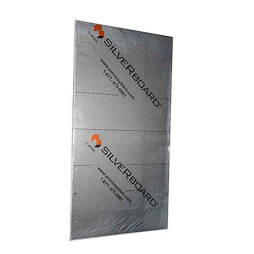 0,61 m x 25,4 mm x 1,22 m R5 Kit Acoustique d'Isolation - STC 19 (5 Panneaux)