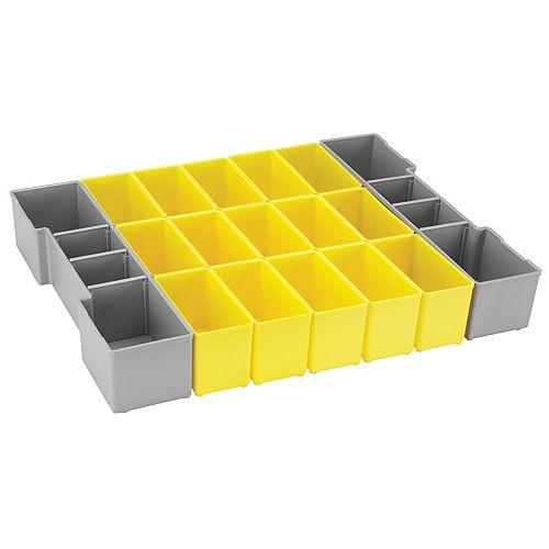 Bosch Ensemble de 17 casiers de rangement pour système L-BOXX