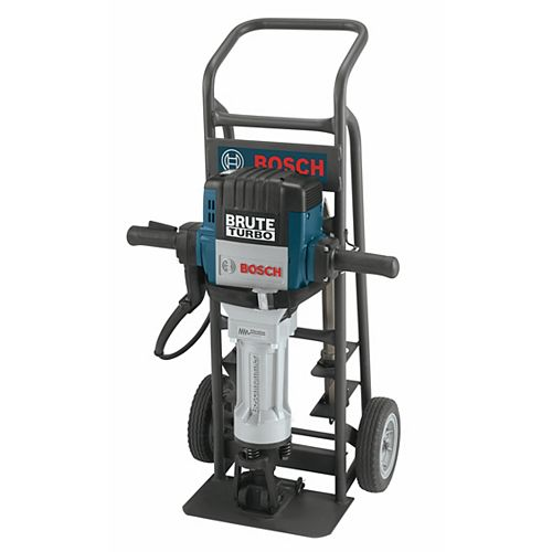120V 1 1/8-inch Corded Brute Turbo Breaker Demolition Hammer with Deluxe Cart and 4 Chisels