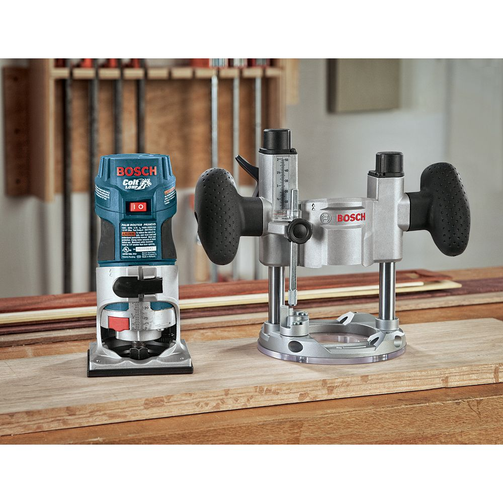 Bosch 1 HP Colt Variable Speed Electronic Palm Router Combination Kit