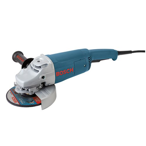 15 Amp Corded 7-inch Large Angle Grinder with Rat Tail