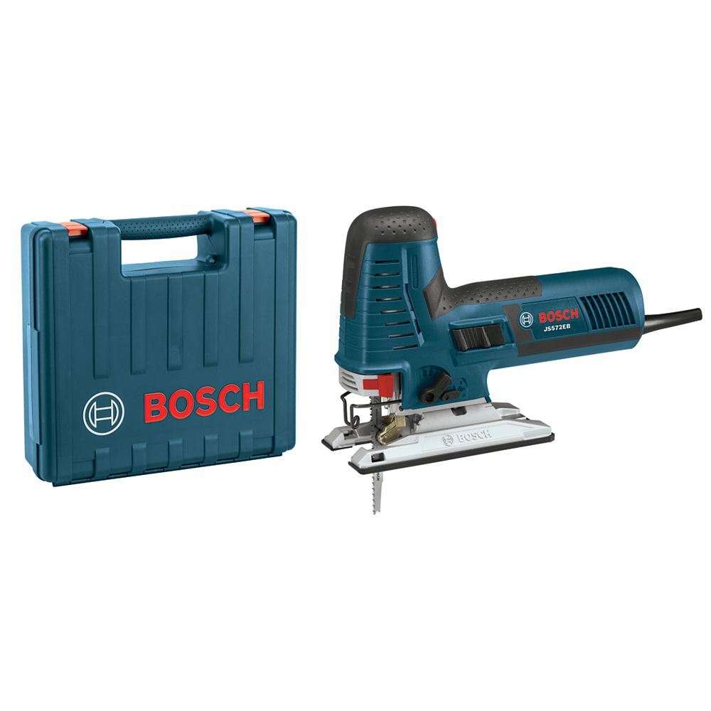 Bosch 7.2 Amp Corded Barrel-Grip Jig Saw Kit with Variable Speed, Assorted Blades and Carrying Case
