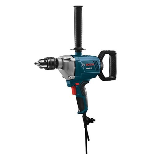 120V 5/8-inch Corded Drill/Mixer with Chuck Key and Auxiliary Handle