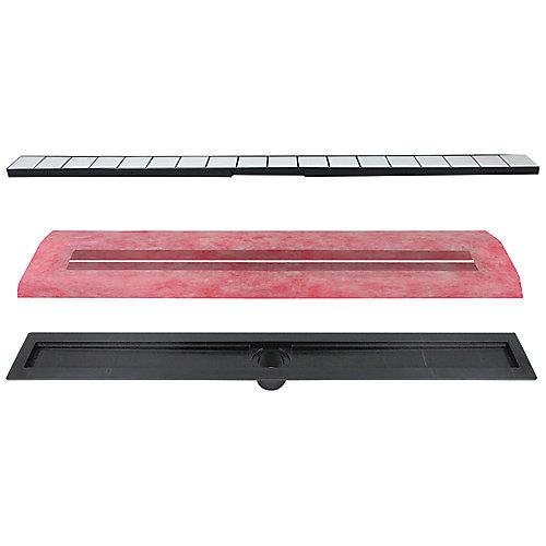 36-inch  Linear Drain Kit - Tile-In Top