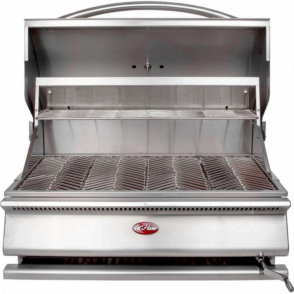 Cal Flame Grill de 31 pouces séries-G en acier inoxydable et au charbon