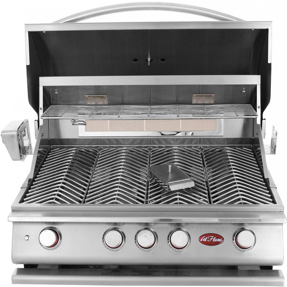 Cal Flame 4 brûleurs en acier inoxydable au gaz propane avec kit accessoire