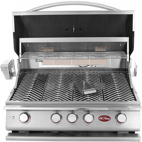 4-Burner Built-In Stainless Steel Propane BBQ with Accessory Kit