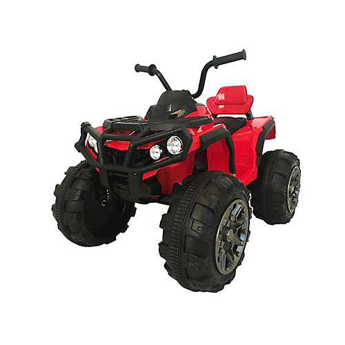 Super Quad 12V Ride-on ATV Toy in Red
