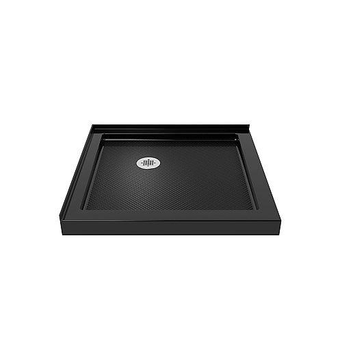 DreamLine SlimLine 32-inch x 32-inch Double Threshold Shower Base in Black Color