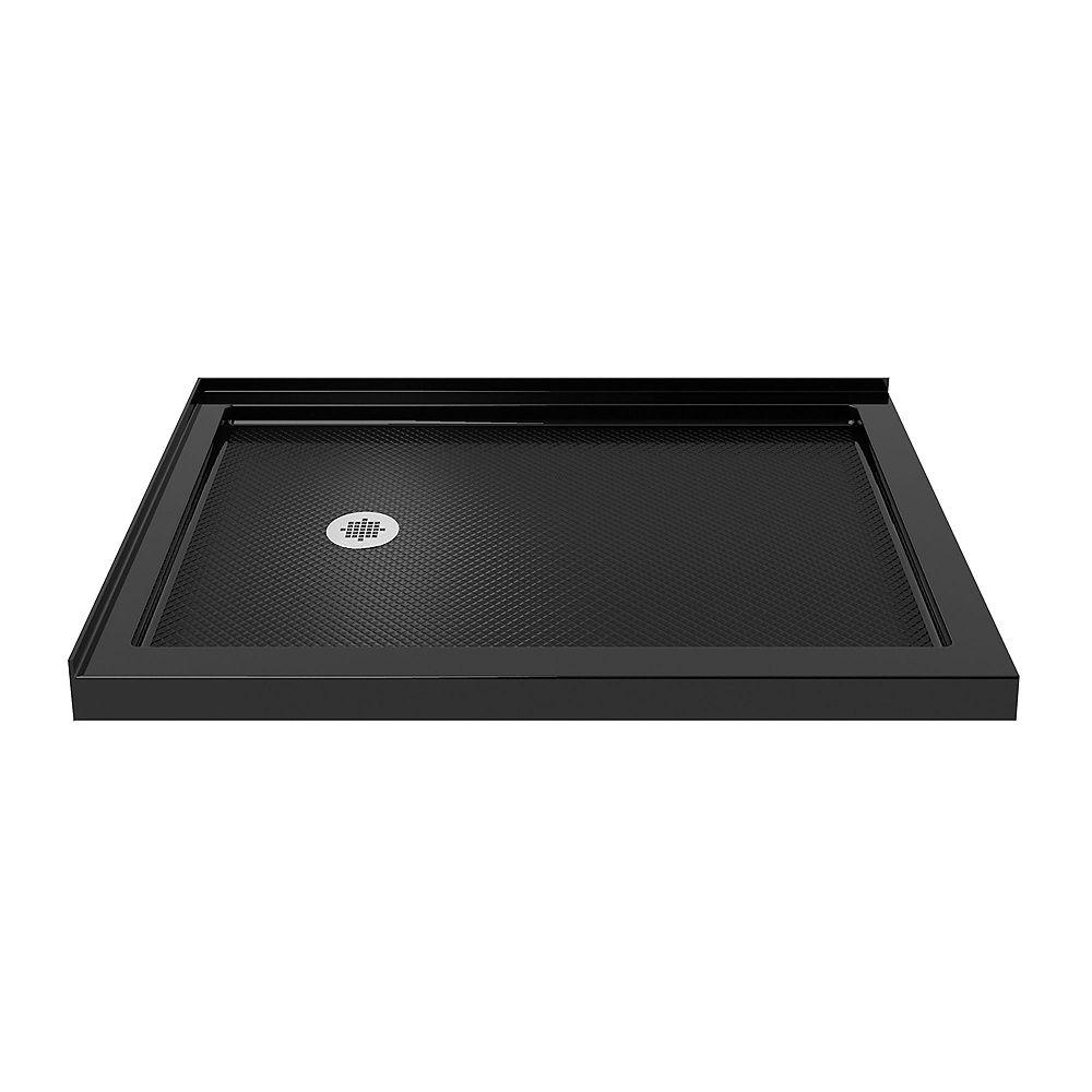 DreamLine SlimLine 36-inch x 48-inch Double Threshold Shower Base in Black colour with Left Hand Drain