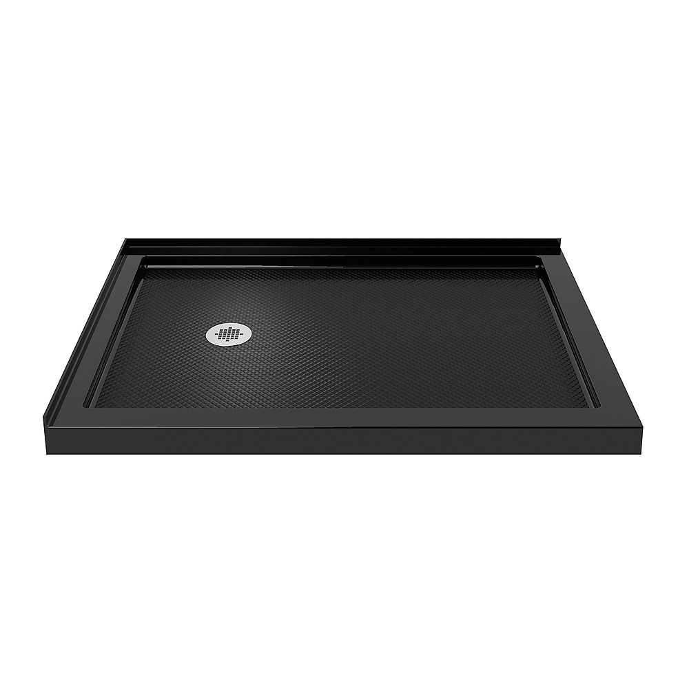 DreamLine SlimLine 36-inch x 60-inch Double Threshold Shower Base in Black colour with Left Hand Drain