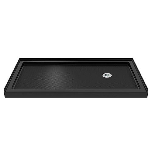DreamLine SlimLine 30-inch x 60-inch Single Threshold Shower Base in Black colour with Right Hand Drain