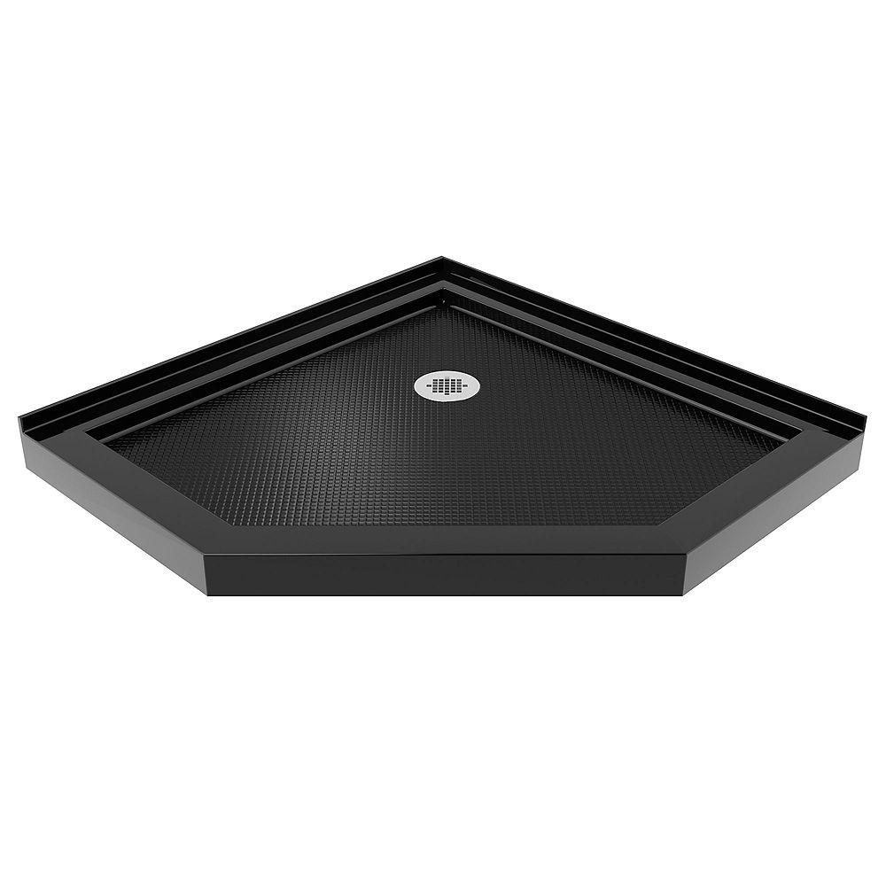 DreamLine SlimLine 38-inch x 38-inch Corner Shower Base in Black colour