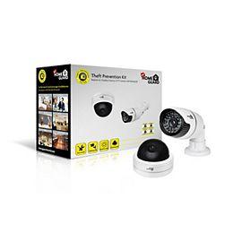"""Faux Kit de prévention du vol - In / Fausse Caméras extérieur CCTV """"Bullet"""" & Dôme avec clignotant LED de HOMEGUARD"""