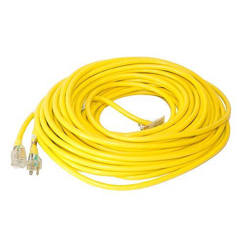 SJTW 12/3 30.4M (100Feet) Single Lit end - YELLOW