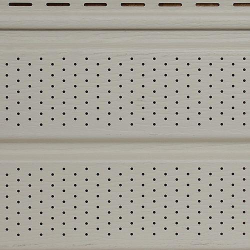 Soffite ventilé Ant IV, 10 po x 12 pi, vinyle Double 5, fini grain de bois, jaune