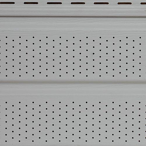 Ce soffite blanc cassé Classic Linen d'Abtco est superbe et dure longtemps. Ce soffite est conçu dans un superbe style Double 5 avec effet grain de bois de 10 pouces x 12 pieds. Ce soffite polyvalent convient à de nombreux projets de rénovation.