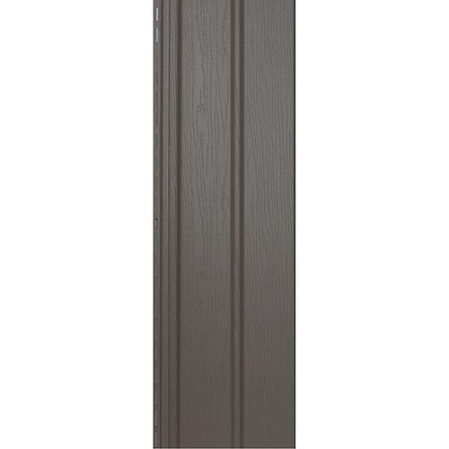 Soffite robuste ventilé, 10 po x 12 pi, vinyle Double 5, fini grain de bois, beige et havane Khaki, 20/paq.