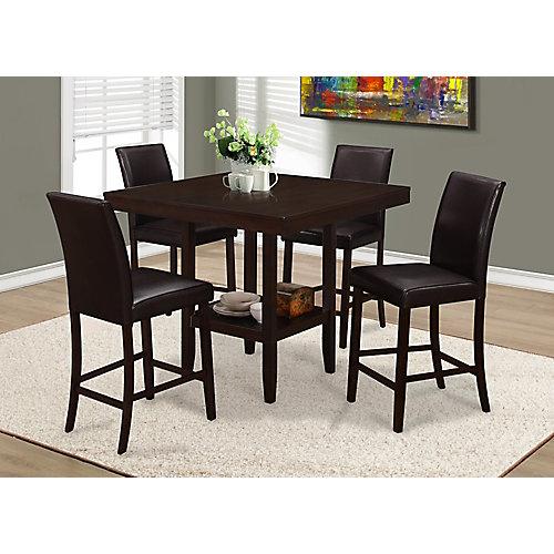 Table A Manger - 42 x 42 po / Cappuccino Hauteur Comptoir