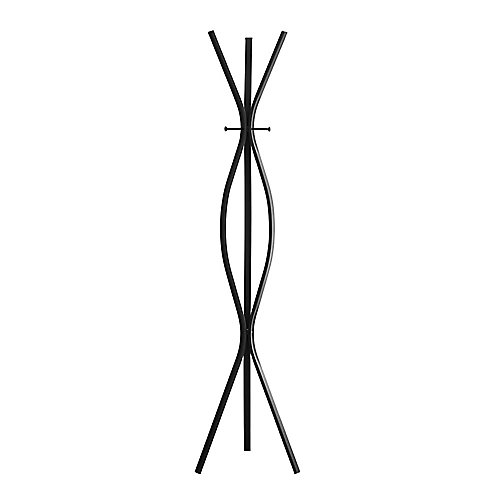 Coat Rack - 72 Inch H / Black Metal Contemporary Style