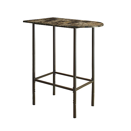 Home Bar - 24 Inch X 36 Inch   / Cappuccino Marble / Metal