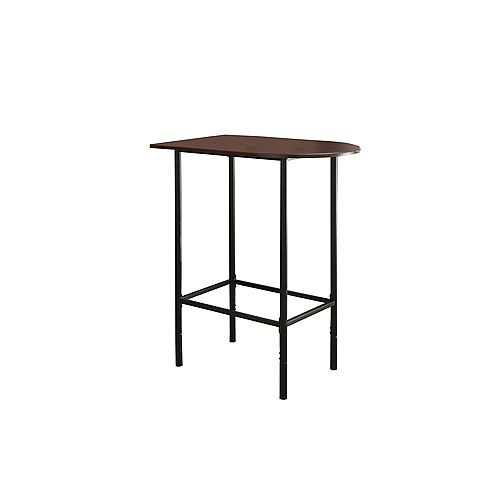 Home Bar - 24 Inch X 36 Inch / Cappuccino / Black Metal Spacesaver