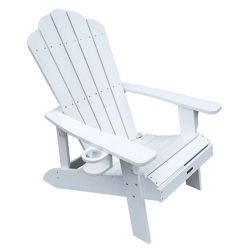Chaise Adirondack Island Retreat - blanche