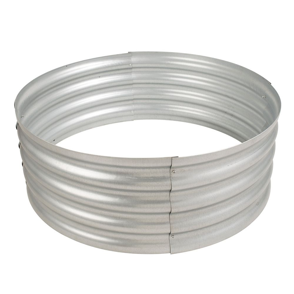 Pleasant Hearth Infinity 36-inch Galvanized Outdoor Fire Ring