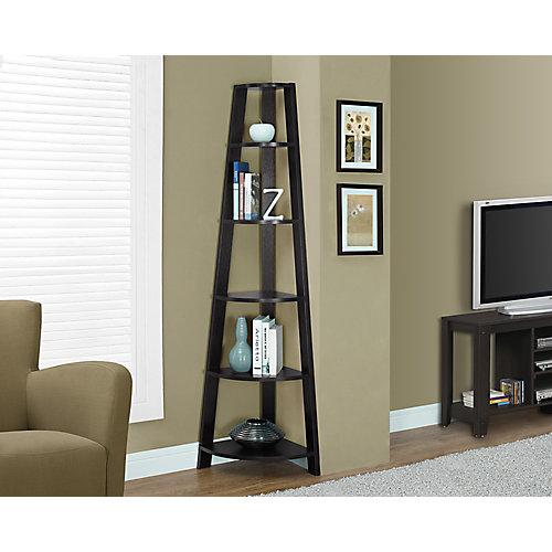 5-Shelf Manufactured Wood Bookcase in Brown