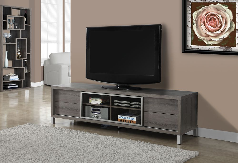 Tv Stand - 70 Inch L / Dark Taupe Euro Style