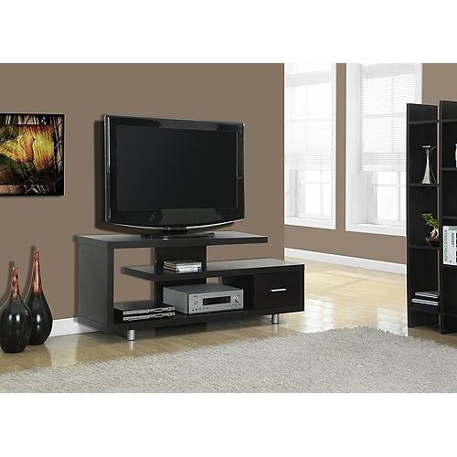 Tv Stand - 60 Inch L / Cappuccino With 1 Drawer