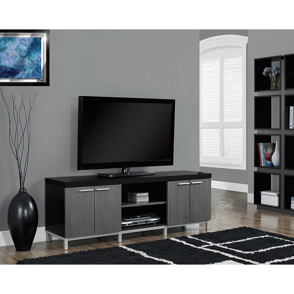 Monarch Specialties Tv Stand - 60-inch L / Black / Grey