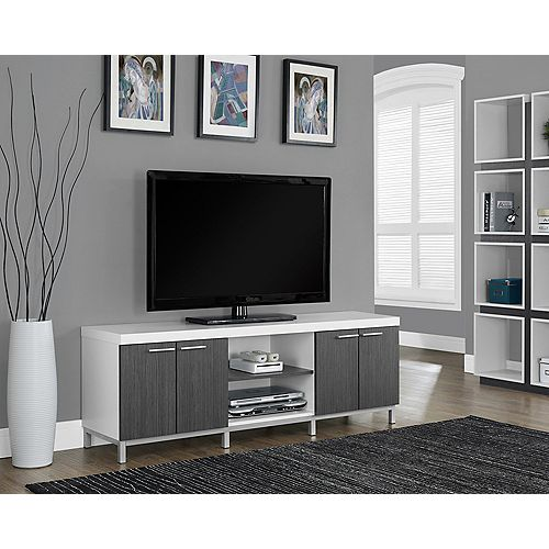 Tv Stand - 60 Inch L / White / Grey