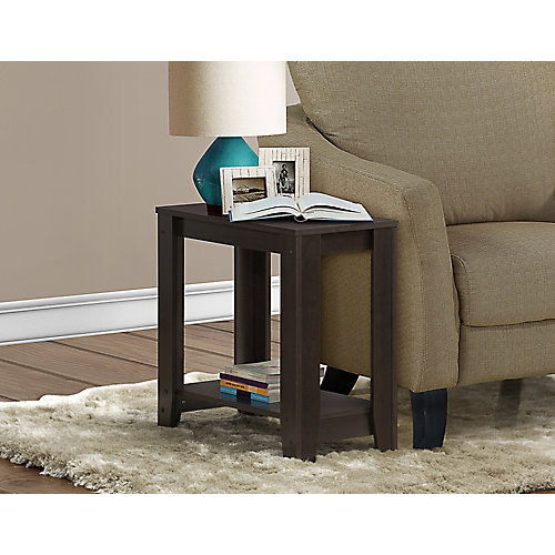24-inch x 12-inch x 22-inch Accent Table in Cappuccino