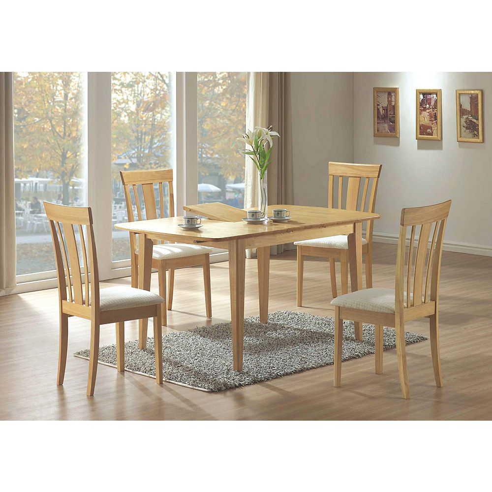 Monarch Specialties Dining Table 36 Inch X 48 Inch X 60 Inch Maple With A Leaf The Home Depot Canada