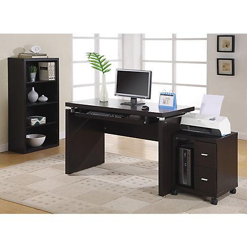 Bureau d'ordinateur standard, marron