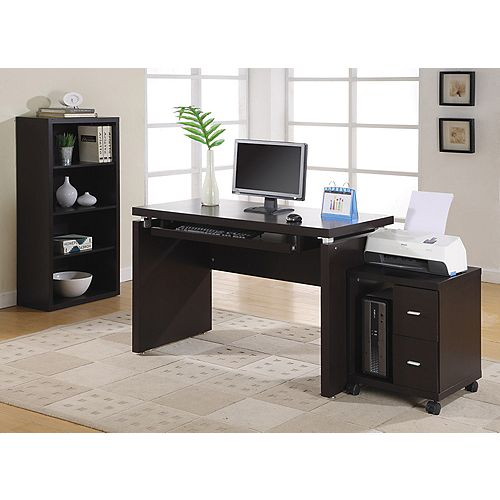 Standard Computer Desk in Brown