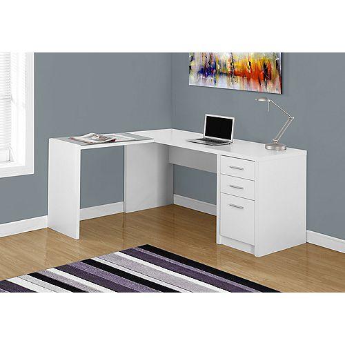 L-Shaped Computer Desk in White