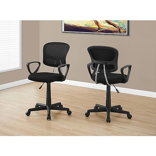 Chaise de Bureau - Meche Noir Juvenile / Multi-Position