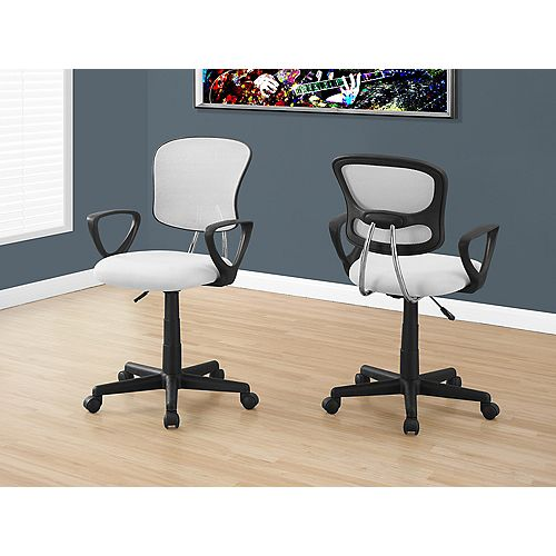 Office Chair - White Mesh Juvenile / Multi-Position