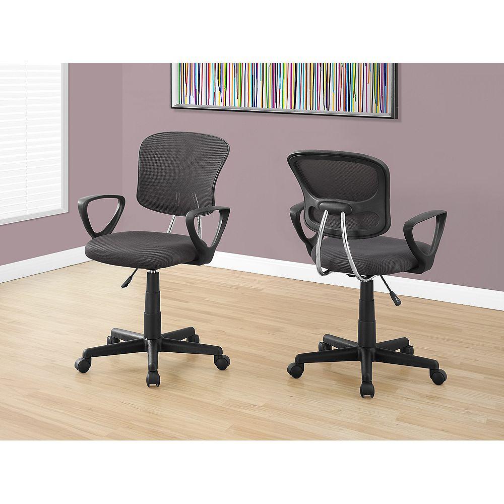 Monarch Specialties Office Chair - Grey Mesh Juvenile / Multi Position