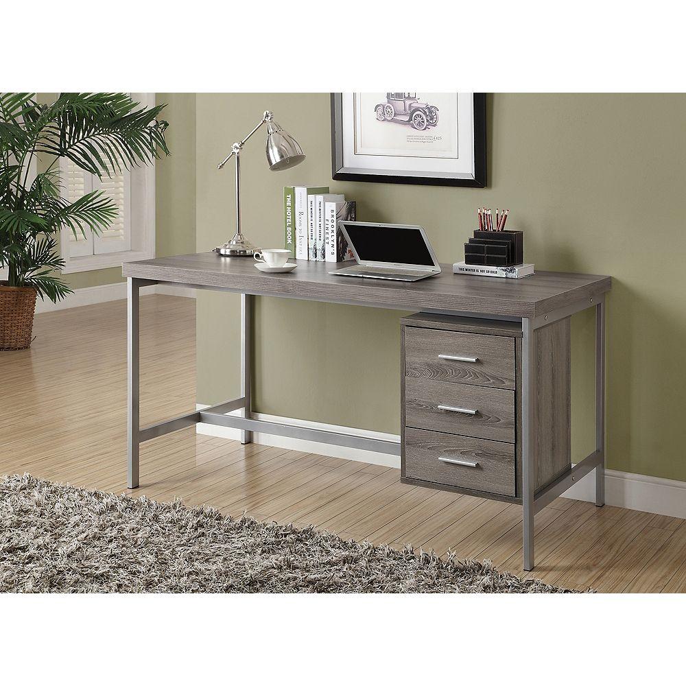 Monarch Specialties Corner Computer Desk in Grey