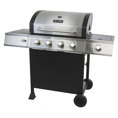 4-Burner Open Cart Propane BBQ with Side-Burner