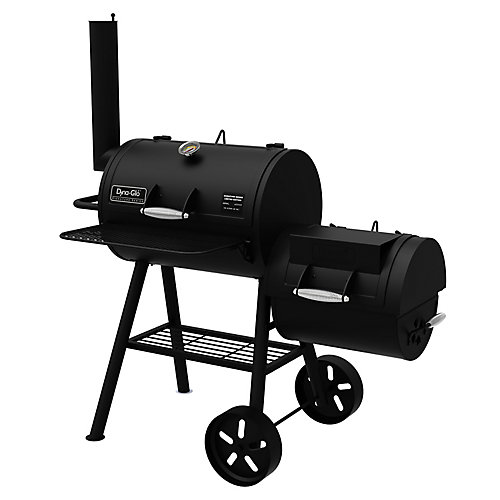 Heavy-Duty Compact Barrel Charcoal BBQ & Smoker Box
