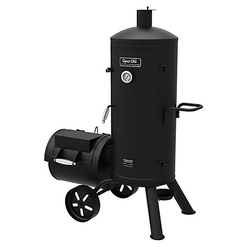 Heavy-Duty Vertical Offset Charcoal Smoker & BBQ