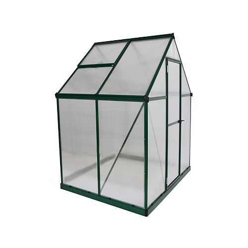 Palram Mythos 6 ft. x 4 ft. Greenhouse in Green
