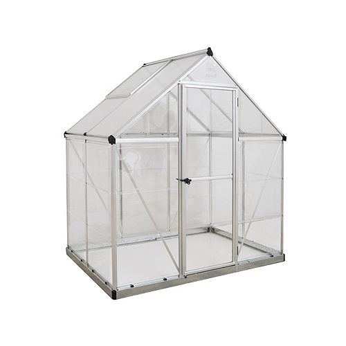 Hybrid 6 ft. x 4 ft. Greenhouse in Silver