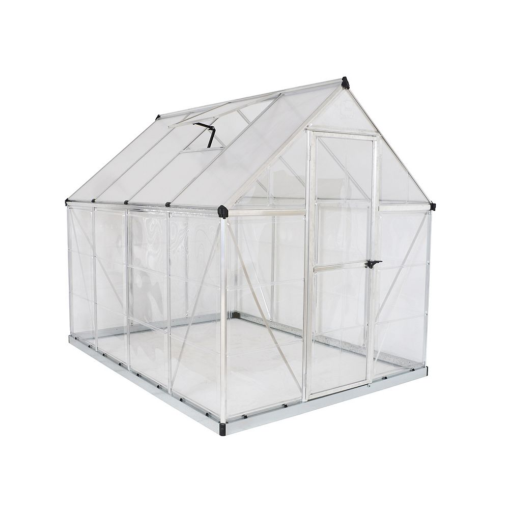 Palram Hybrid 6 ft. x 8 ft. Greenhouse in Silver