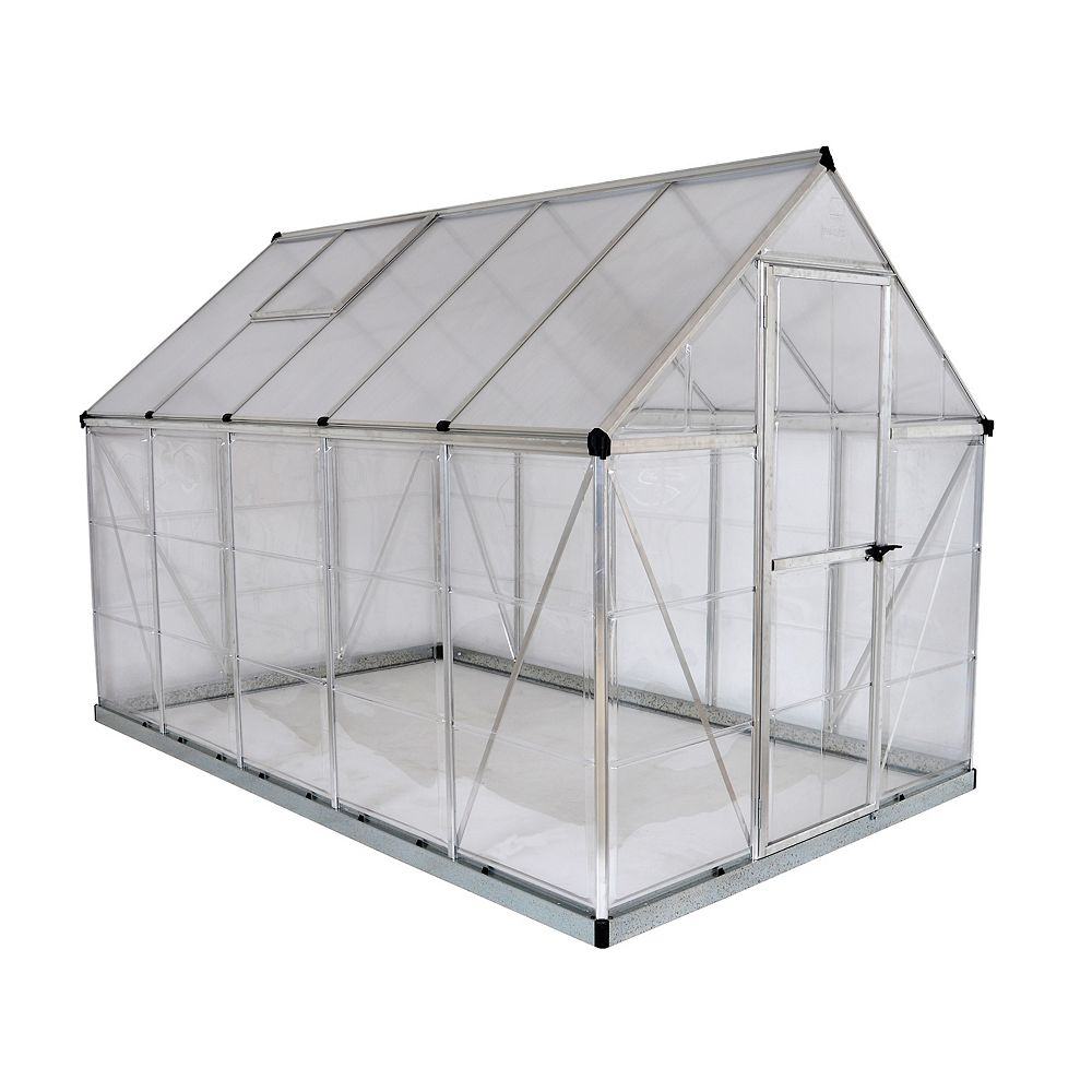 Palram Hybrid 6 ft. x 10 ft. Greenhouse in Silver