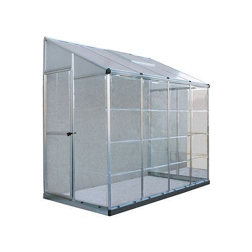 Lean-To Grow House 8 ft. x 4 ft. Aluminum & Polycarbonate Greenhouse